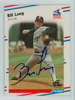 Bill Long AUTOGRAPH 1988 Fleer White Sox 