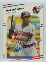 Mark McLemore AUTOGRAPH 1988 Fleer Angels 