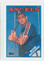 Bob Boone AUTOGRAPH 1988 Topps Angels 