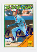 Casey Candaele AUTOGRAPH 1988 Topps Expos 