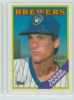 Mark Ciardi AUTOGRAPH 1988 Topps Brewers 