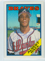 Albert Hall AUTOGRAPH 1988 Topps Braves 