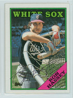 Ron Hassey AUTOGRAPH 1988 Topps White Sox 