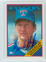 Charlie Hough AUTOGRAPH 1988 Topps Rangers 