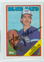 Joe Johnson AUTOGRAPH 1988 Topps Blue Jays 