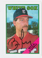 Bill Long AUTOGRAPH 1988 Topps White Sox 