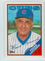 Frank Lucchesi AUTOGRAPH 1988 Topps Cubs 