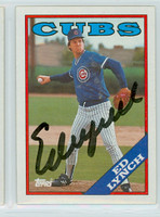 Ed Lynch AUTOGRAPH 1988 Topps Cubs 