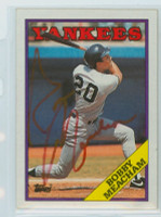 Bobby Meacham AUTOGRAPH 1988 Topps Yankees 