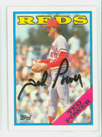 Ted Power AUTOGRAPH 1988 Topps Reds 