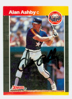 Alan Ashby AUTOGRAPH 1989 Donruss Astros 