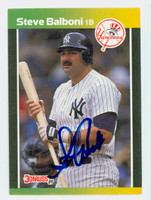 Steve Balboni AUTOGRAPH 1989 Donruss Yankees TRADED 