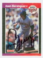 Juan Berenguer AUTOGRAPH 1989 Donruss Twins 