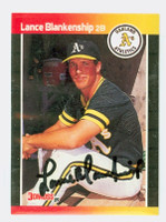 Lance Blankenship AUTOGRAPH 1989 Donruss Athletics 