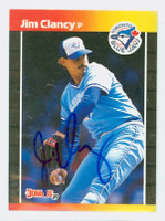 Jim Clancy AUTOGRAPH 1989 Donruss Blue Jays 