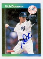 Richard Dotson AUTOGRAPH 1989 Donruss Yankees 