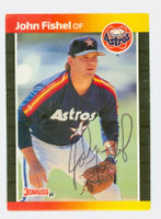 John Fishel AUTOGRAPH 1989 Donruss Astros 