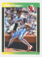 Willie Fraser AUTOGRAPH 1989 Donruss Angels 