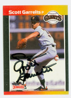 Scott Garrelts AUTOGRAPH 1989 Donruss Giants 