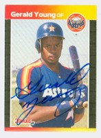 Gerald Young AUTOGRAPH 1989 Donruss Astros 