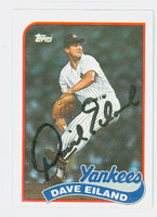 Dave Eiland AUTOGRAPH 1989 Topps Yankees 