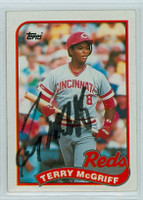 Terry McGriff AUTOGRAPH 1989 Topps Reds 