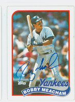 Bobby Meacham AUTOGRAPH 1989 Topps Yankees 