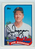 Joe Morgan AUTOGRAPH Red Sox 1989 Topps 