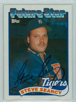 Steve Searcy AUTOGRAPH 1989 Topps Tigers 