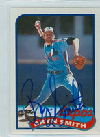 Bryn Smith AUTOGRAPH 1989 Topps Expos 