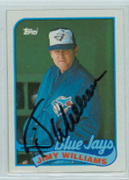 Jimy Williams AUTOGRAPH 1989 Topps Blue Jays 