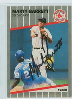 Marty Barrett AUTOGRAPH 1989 Fleer Red Sox 