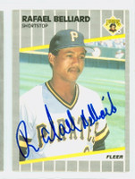 Rafael Belliard AUTOGRAPH 1989 Fleer Pirates 