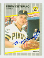 Benny Distefano AUTOGRAPH 1989 Fleer Pirates 
