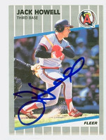 Jack Howell AUTOGRAPH 1989 Fleer Angels 