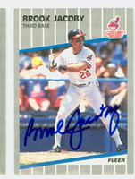 Brook Jacoby AUTOGRAPH 1989 Fleer Indians 
