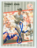 Tommy John AUTOGRAPH 1989 Fleer Yankees 