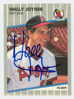 Wally Joyner AUTOGRAPH 1989 Fleer Angels 
