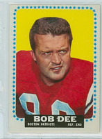 1964 Topps Football 7 Bob Dee Single Print Boston Patriots Fair to Poor