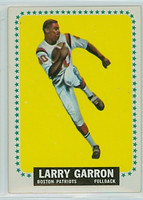 1964 Topps Football 10 Larry Garron Boston Patriots Excellent to Mint