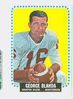 1964 Topps Football 68 George Blanda Single Print Houston Oilers Excellent