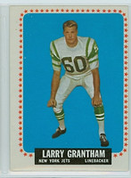 1964 Topps Football 113 Larry Grantham New York Jets Very Good to Excellent