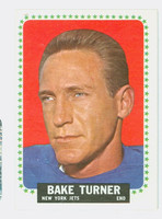 1964 Topps Football 127 Bake Turner Single Print New York Jets Excellent to Mint