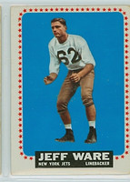 1964 Topps Football 128 Jeff Ware New York Jets Very Good