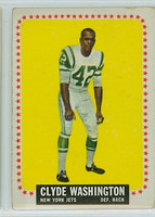 1964 Topps Football 129 Clyde Washington New York Jets Good to Very Good