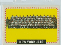 1964 Topps Football 131 Jets Team Very Good