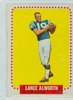 1964 Topps Football 155 Lance Alworth San Diego Chargers Very Good to Excellent