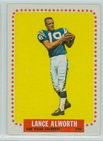 1964 Topps Football 155 Lance Alworth San Diego Chargers Excellent to Mint