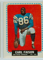 1964 Topps Football 157 Earl Faison San Diego Chargers Very Good to Excellent