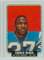 1964 Topps Football 166 Charles McNeil San Diego Chargers Very Good to Excellent